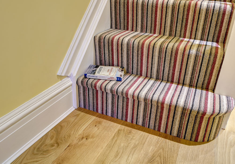 Striped Patterned Stair Carpet - Harts Carpets and Flooring