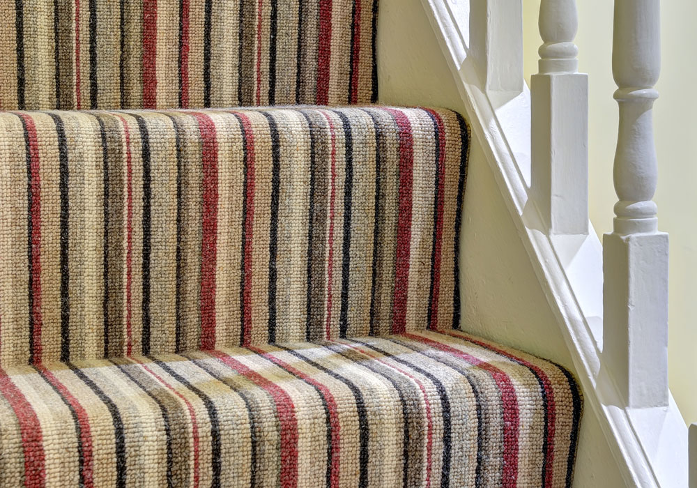 Striped Stair Carpet Fitted in Ipswich - Harts Carpets and Flooring